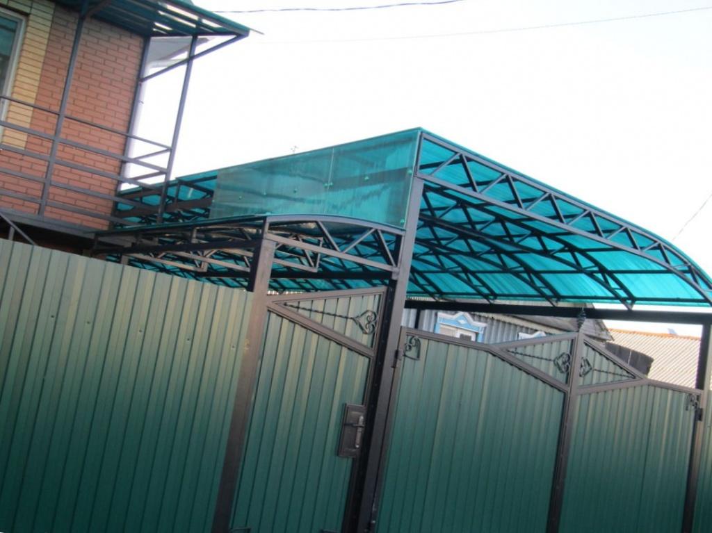 комплектующие для навеса из поликарбоната для дачи